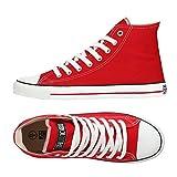 Ethletic Sneaker Vegan Hicut Classic - Farbe Cranberry/White Aus Bio-Baumwolle